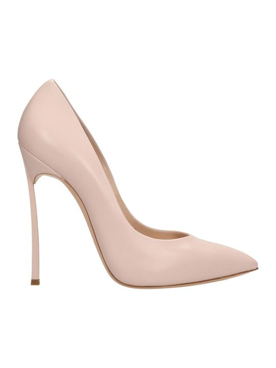 Casadei Pink Leather Pumps