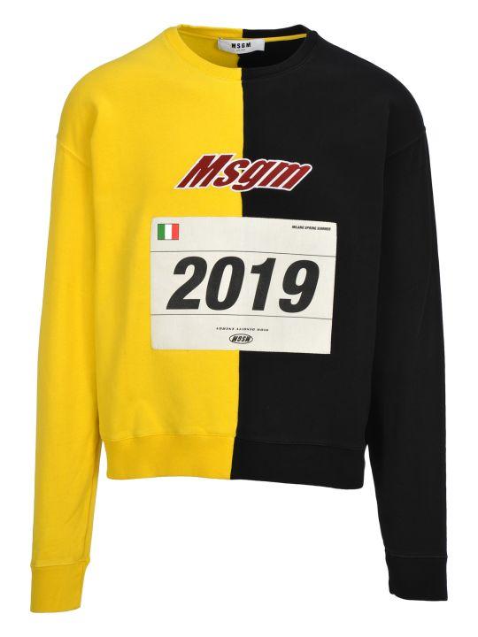MSGM Msgm Bi-coloured Printed Sweatshirt