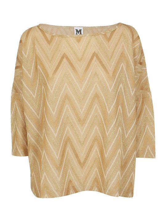 M Missoni Chevron Knit Top