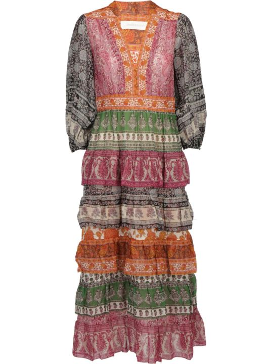 Zimmermann Amari Tiered Midi Dress
