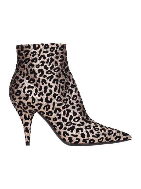 Casadei Ankle Boots In Animalier Suede