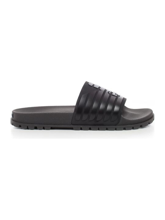 Emporio Armani Ribbed Logo Sliders