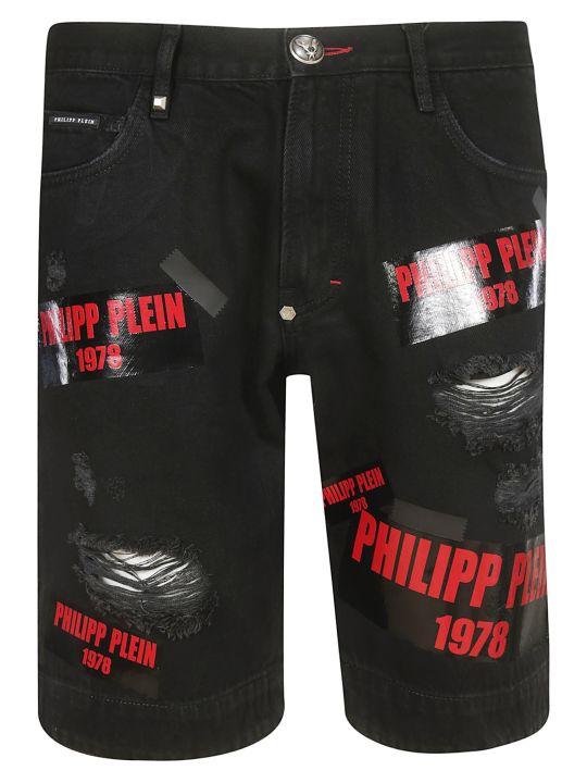 Philipp Plein Tape Logo Shorts