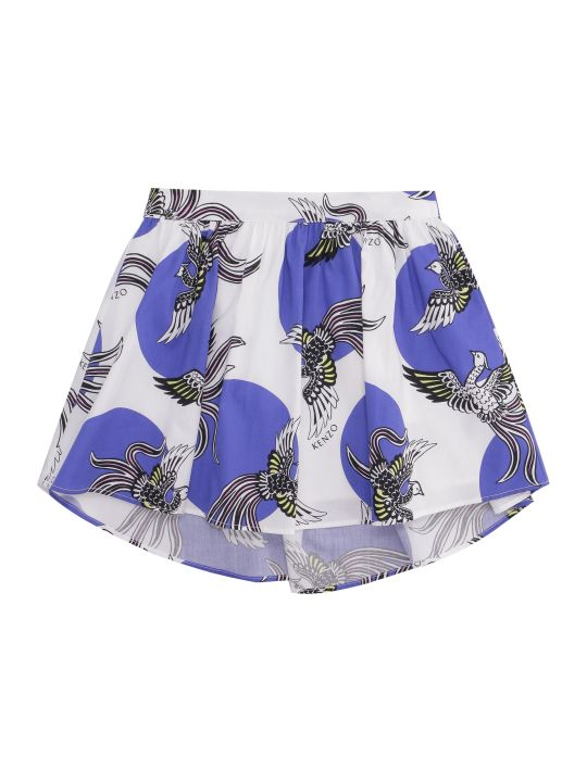 Kenzo Kids Printed Cotton Skirt