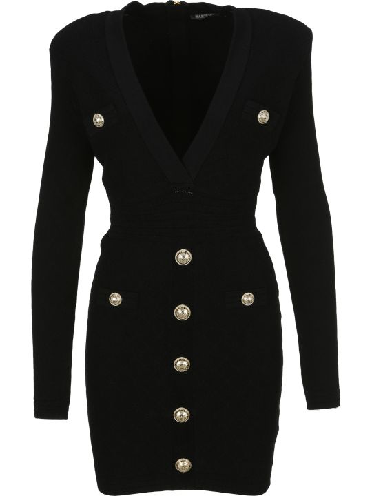 Balmain Button Dress