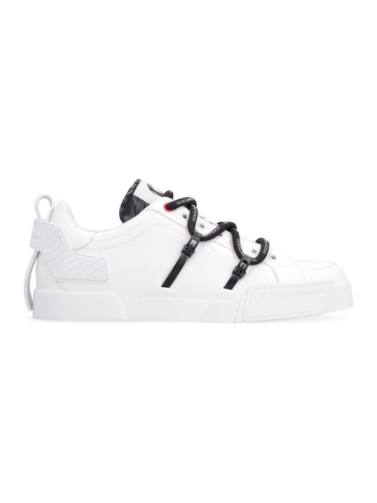 Dolce & Gabbana Portofino Leather Low-top Sneakers