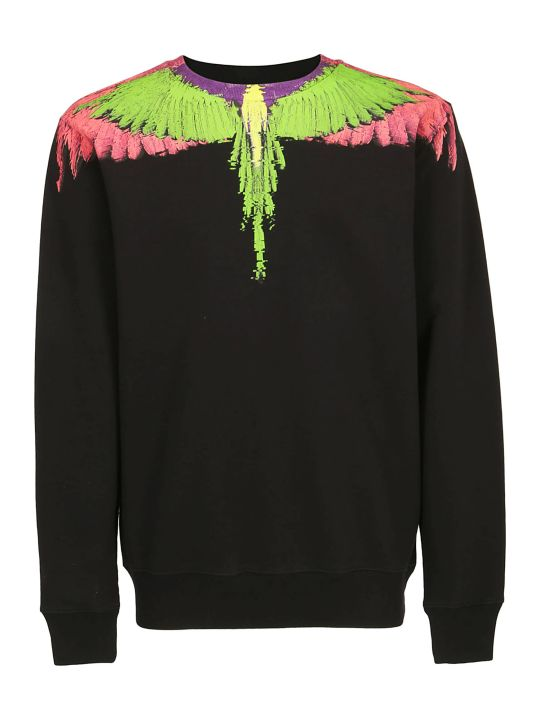 Marcelo Burlon Fluo Glitch Wings Sweatshirt