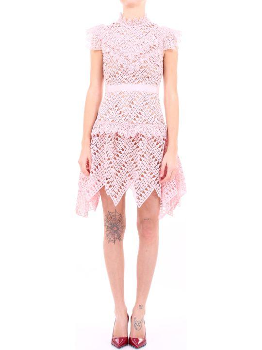 self-portrait Mini Dress Pink Lace