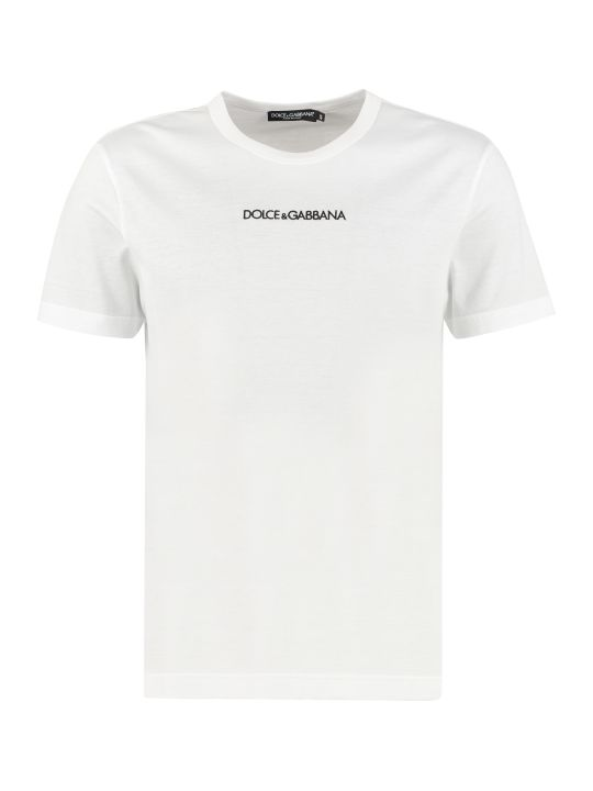 Dolce & Gabbana Logo Detail Cotton T-shirt
