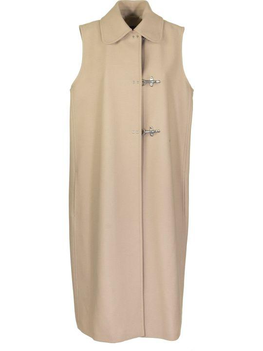 Fay Vest Over Beige Coats