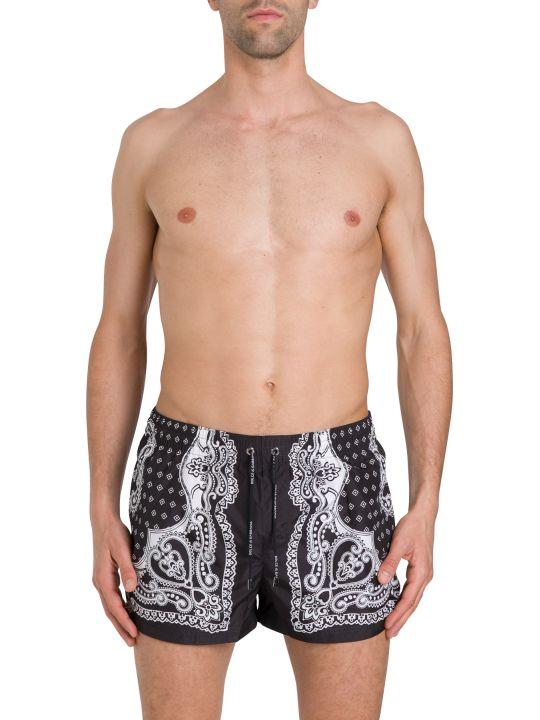 Dolce & Gabbana Bandana Swimsuit Shorts