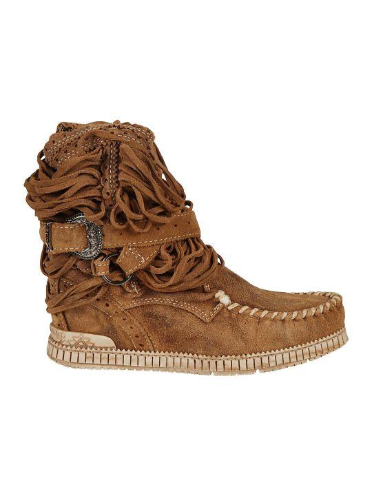 El Vaquero Buckled Ankle Boots