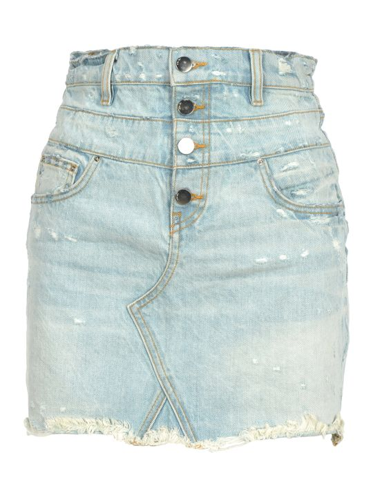 AMIRI Amiri Denim Mini Skirt