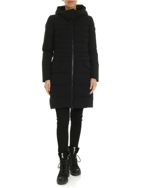 Peuterey Long Down Jacket Viho Ag 01 Black Color