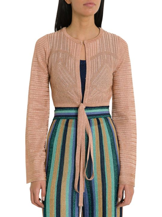 M Missoni Lurex Knit Short Cardigan