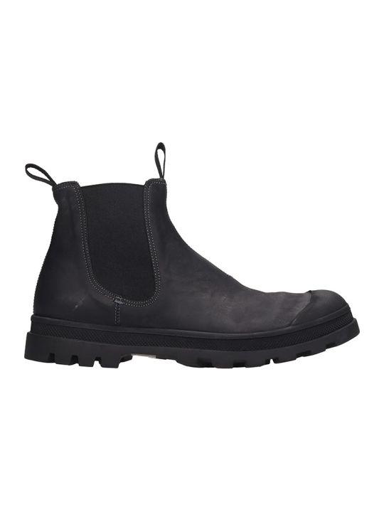 Officine Creative Kasbek Ankle Boots In Black Leather