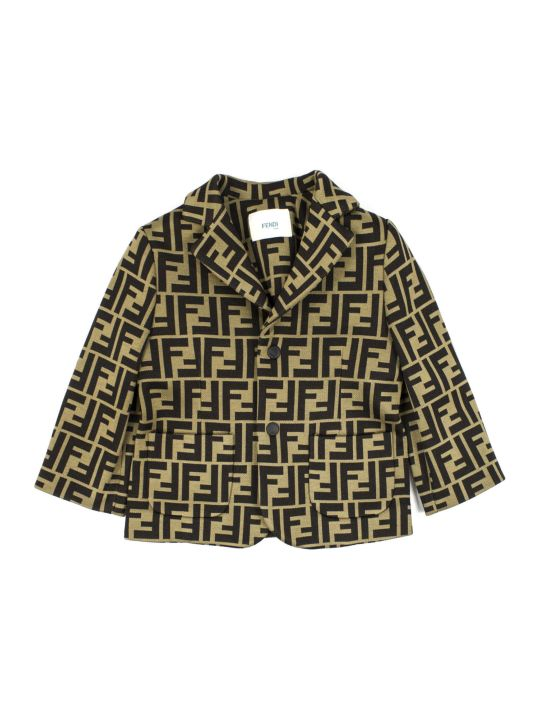 Fendi Brown Cotton Blend Jacket