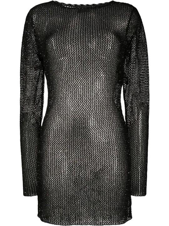 Alanui Dress In Black Cotton