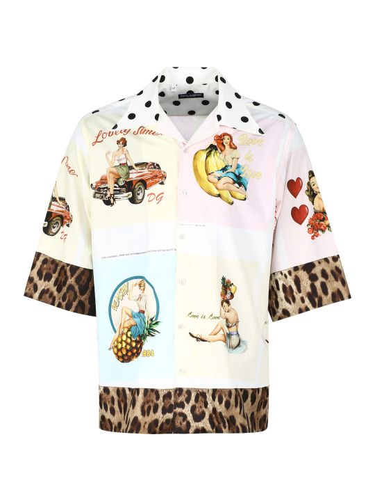 Dolce & Gabbana Printed Bowling Shirt