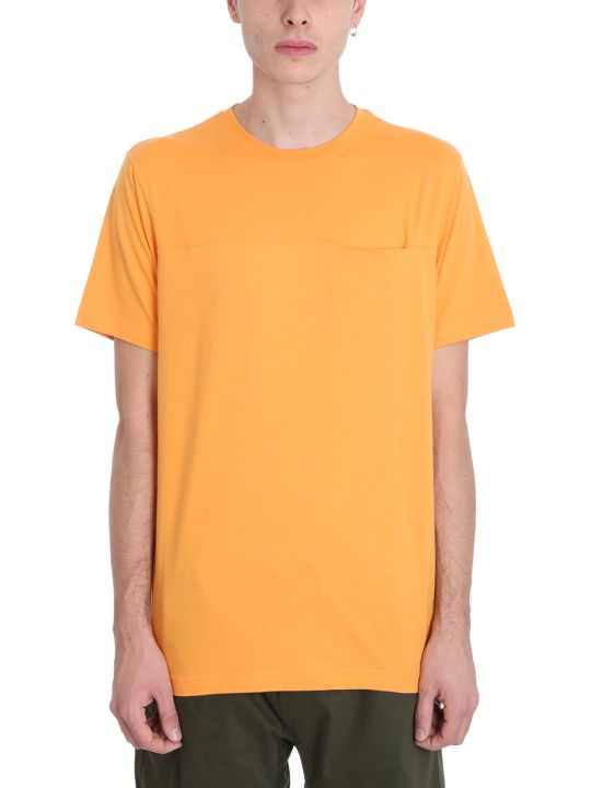 Maharishi Orange Cotton T-shirt