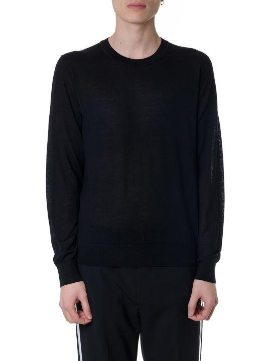 Helmut Lang Black Silk-wool Blend Jumper