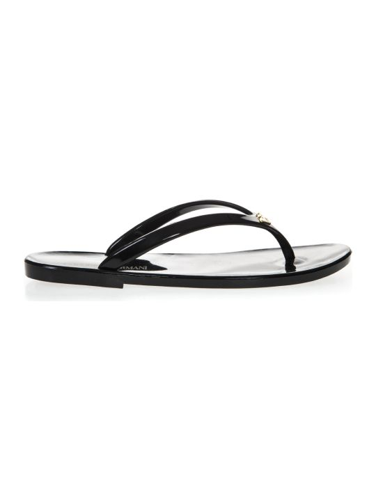 Emporio Armani Black Rubber Sandals