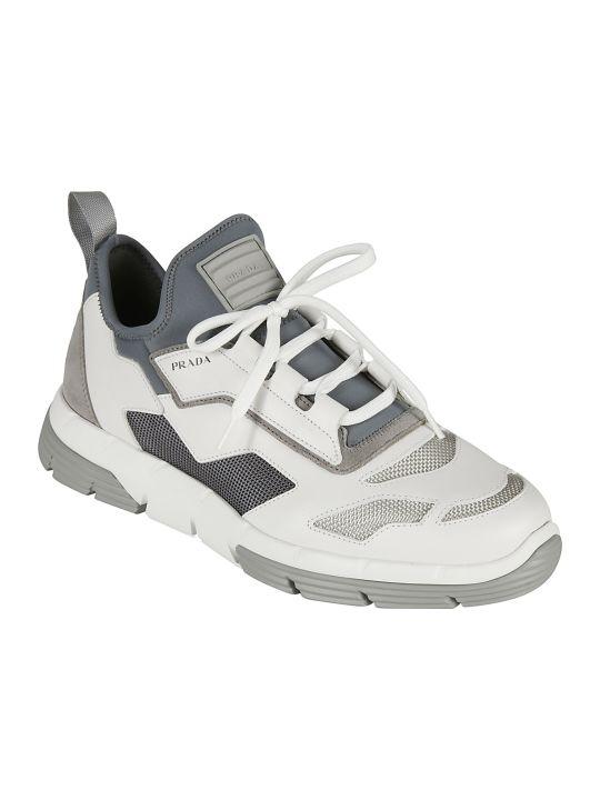 Prada Linea Rossa Knit Sneakers