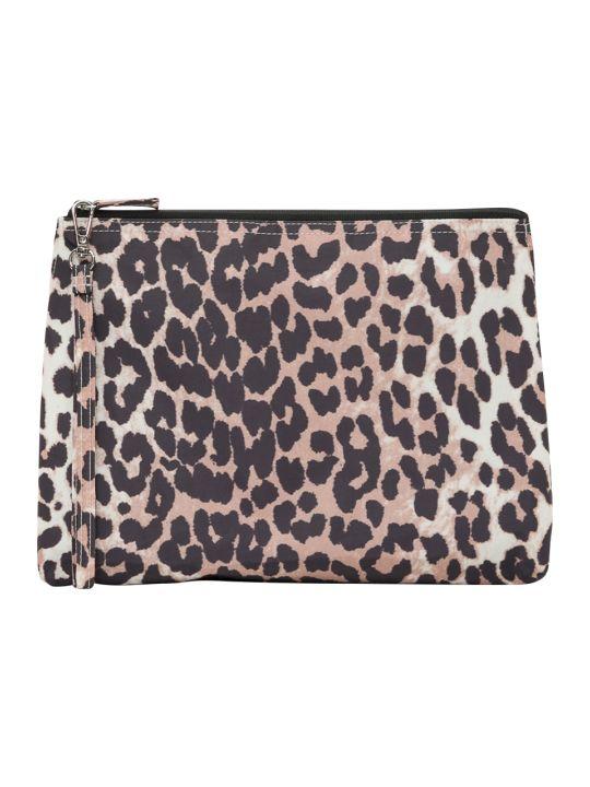Ganni Fairmont Beauty Bag In Leopard Print