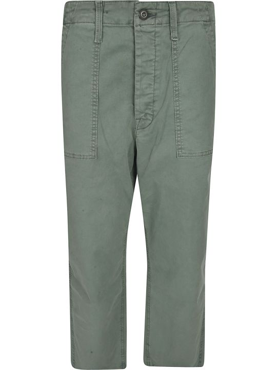 Mother Rear Cargo Pocket Straight Trousers