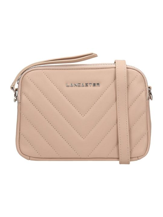 Lancaster Paris Nude Quilted Leather Mini Parisien Coutur Bag
