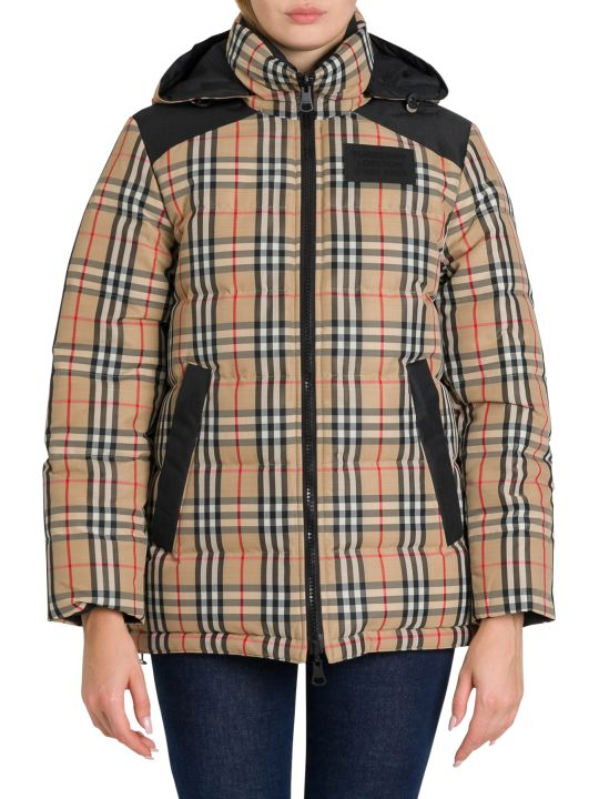Burberry Vintage Check Recycled Polyester Puffer Jacket