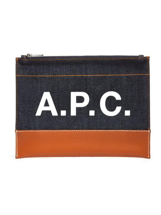 A.P.C. Apc Logo Print Clutch