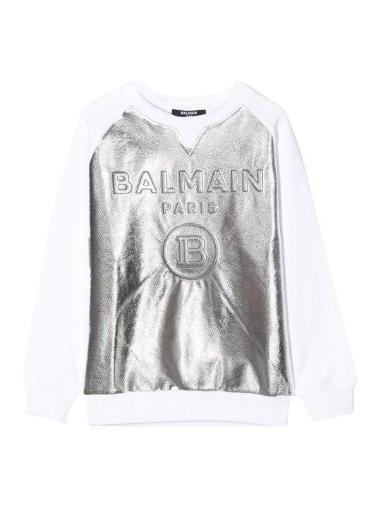 Balmain Bamlain Kids Metal Logo Sweatshirt
