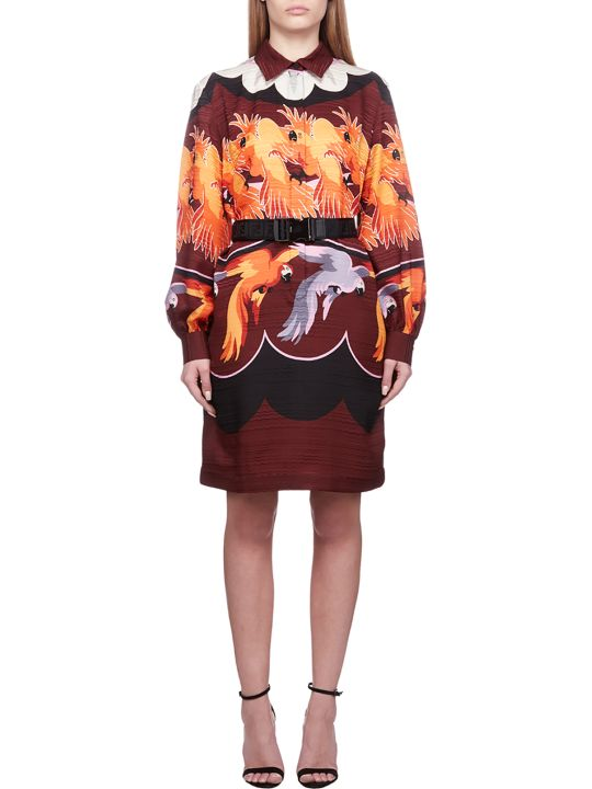Fendi Parrot Print Dress