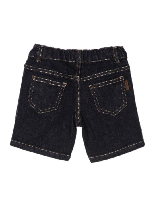 Fendi Navy Ff Denim Shorts