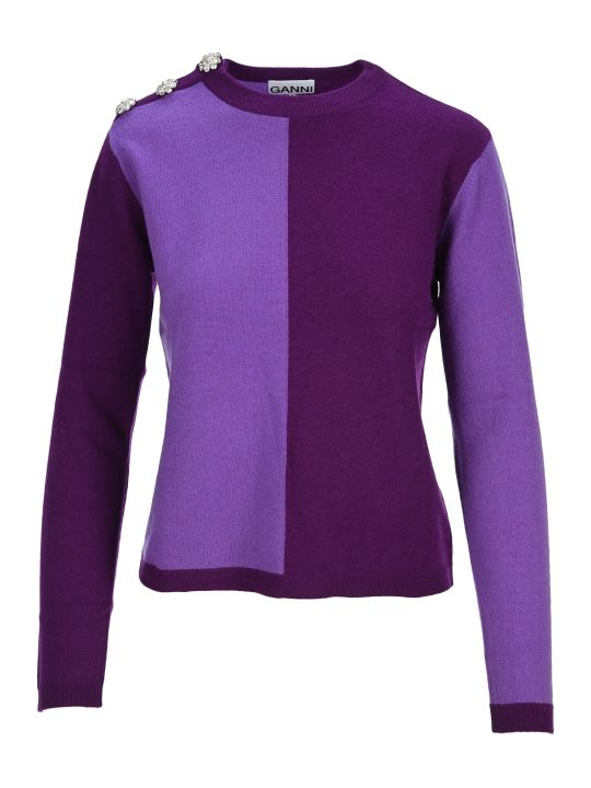 Ganni Cashmere Knit Block Pullover