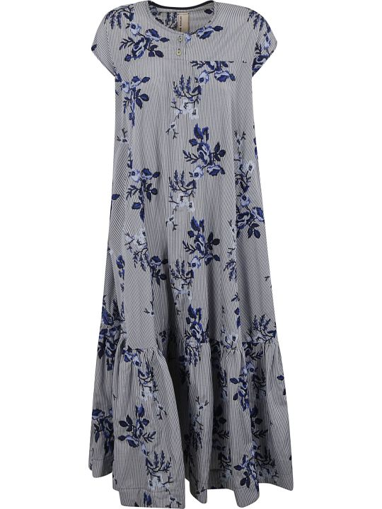 Antonio Marras Floral Embroidery Long Dress