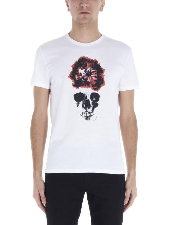 Alexander McQueen 'ink Flower Skull' T-shirt
