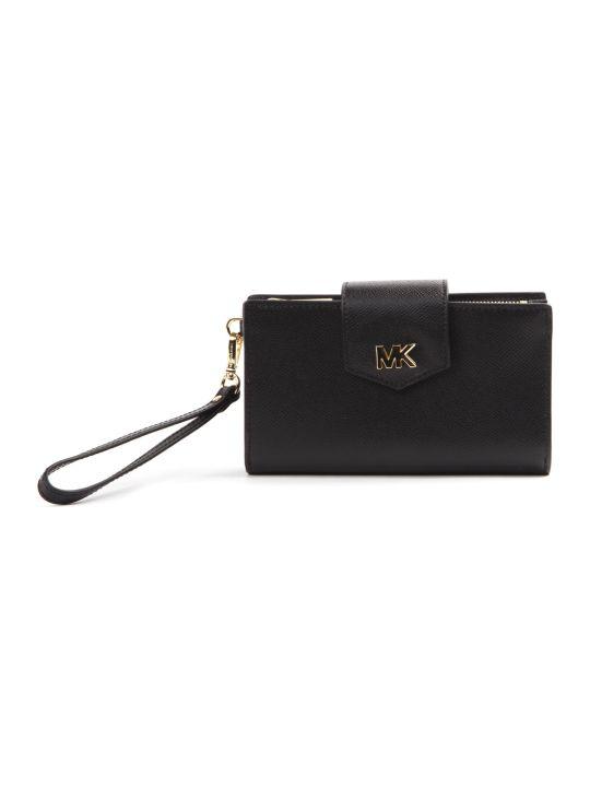 MICHAEL Michael Kors Black Hammered Leather Wallet
