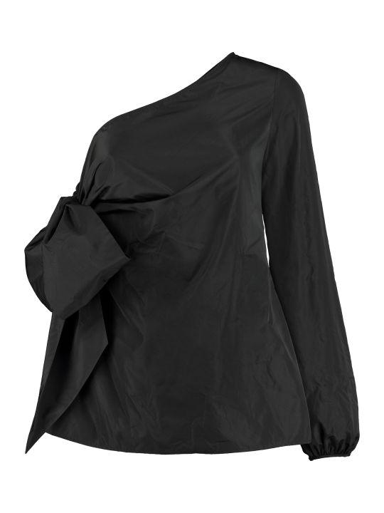 N.21 Techno Satin One-shoulder Blouse