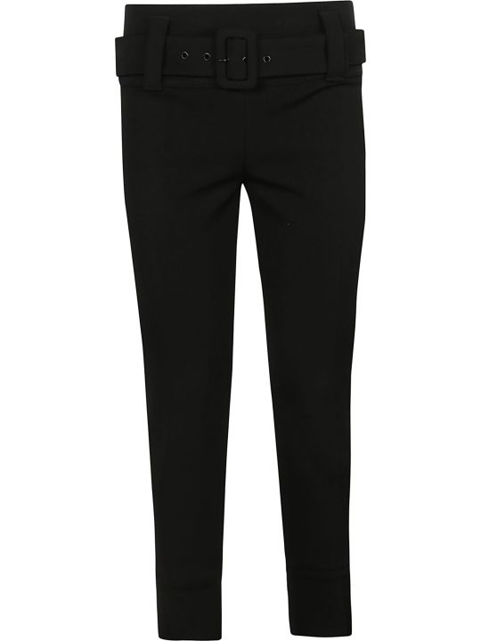 Prada Linea Rossa Cropped Belted Skinny Trousers