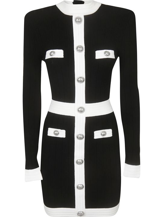 Balmain Button Knitted Dress