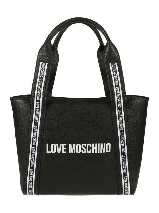 Love Moschino Logo Printed Tote