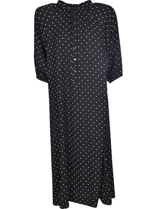 Celine Long Dotted Print Dress