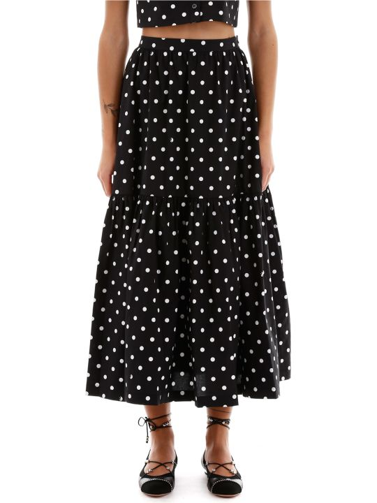 STAUD Orchid Polka Dots Skirt
