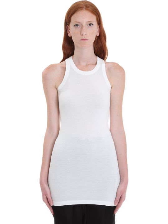 DRKSHDW Rib Tank Topwear In White Cotton