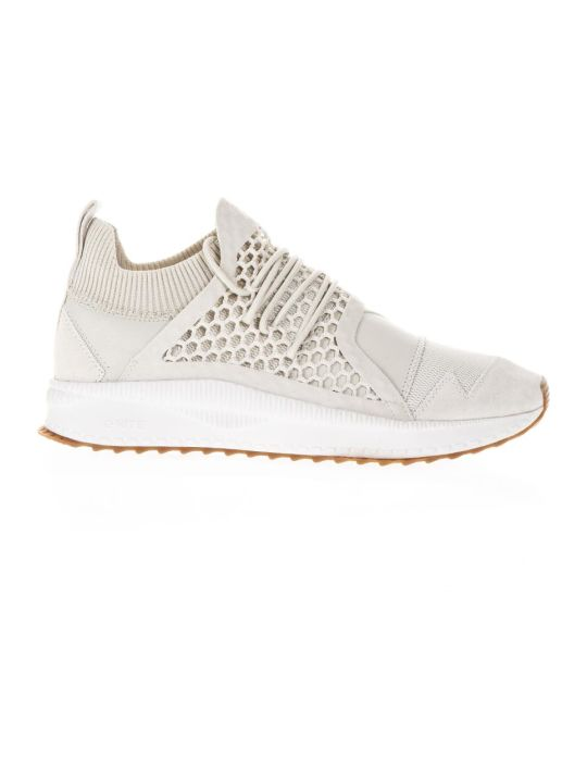 Puma X Han Kjobenhavn Han Silver Birch Leather & Knit Sneakers