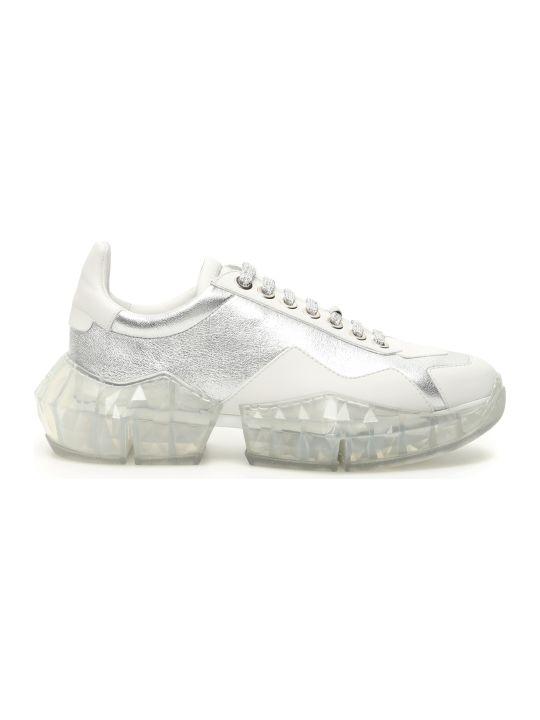 Jimmy Choo Bicolor Diamond Sneakers