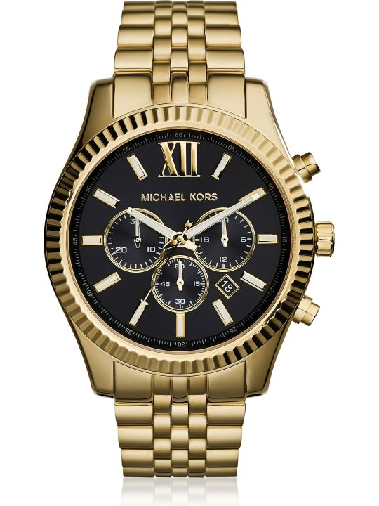 Michael Kors Lexington Gold Tone Chronograph Men's Watch