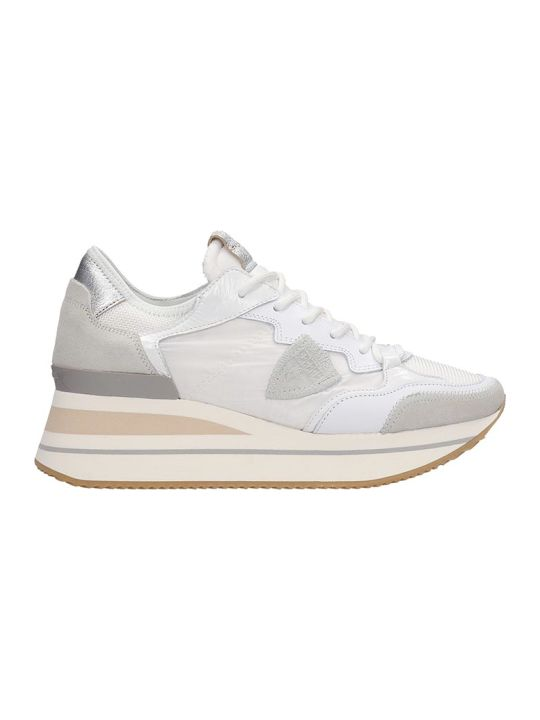 Philippe Model Triomphe L Sneakers In White Tech/synthetic